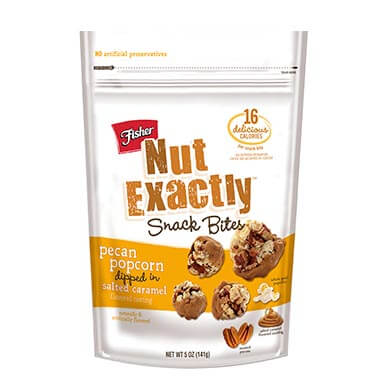 Nut Exactly Pecan Popcorn Dipped In Salted Caramel